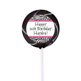 Birthday Personalized Small Swirly Pop (24 Pack)