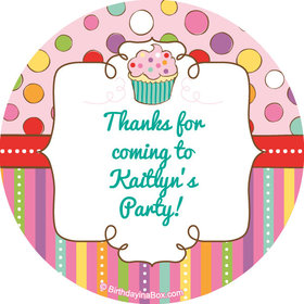 "Sweet Party Personalized 2"" Stickers (20 Stickers)"