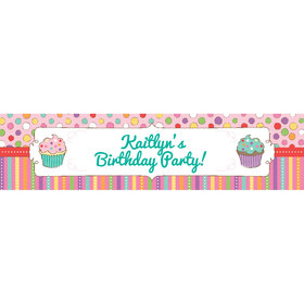 Personalized Sweet Party 5 Ft. Banner