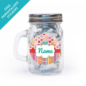 Sweet Party Personalized Mini Mason Jar 12 Pack