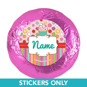 """Sweet Party Personalized 1.25"""" Stickers (48 Stickers)"""