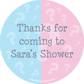 "Gender Reveal Personalized 2"" Stickers (20 Stickers)"