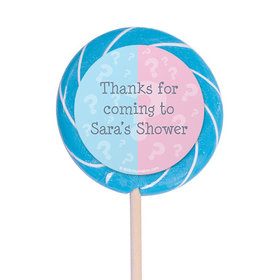 "Gender Reveal Personalized 3"" Lollipops (12 Pack)"