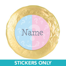 "Gender Reveal Personalized 1.25"" Stickers (48 Stickers)"