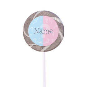 "Gender Reveal Personalized 2"" Lollipops (24 Pack)"
