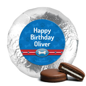 Personalized Birthday Paw Command Milk Chocolate Covered Foil Oreos