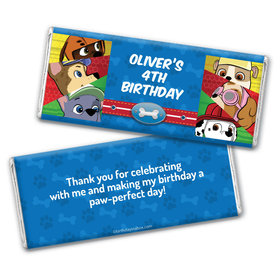Personalized Birthday Paw Command Chocolate Bar & Wrapper