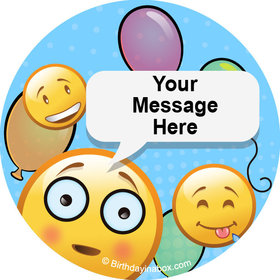 "Emojis Personalized 2"" Stickers (20 Stickers)"