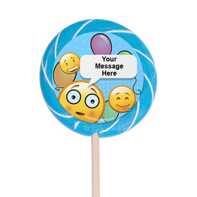 "Emojis Personalized 3"" Lollipops (12 Pack)"
