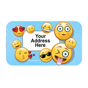 Emojis Personalized Rectangular Stickers (18 Stickers)