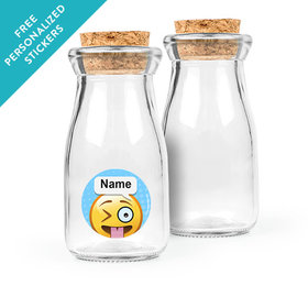 Emojis Personalized Glass Bottle with Cork (24 pack)