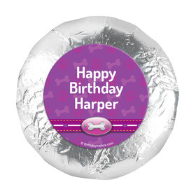 "Personalized Birthday Paw Command Pink 1.25"" Stickers (48 Stickers)"
