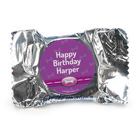 Personalized Birthday Paw Command Pink Peppermint Patties