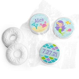 Personalized Birthday Mermaid Friends Life Savers Mints