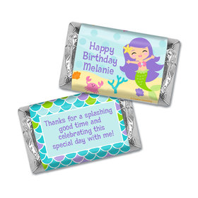 Personalized Birthday Mermaid Friends Hershey's Miniatures Wrappers