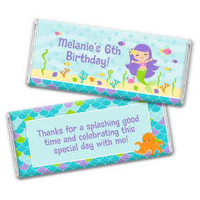 Personalized Birthday Mermaid Friends Chocolate Bar & Wrapper
