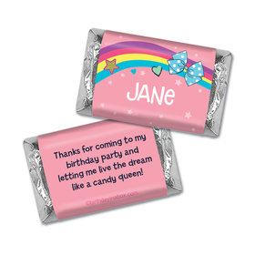Personalized Birthday Party Bows Hershey's Miniatures Wrappers