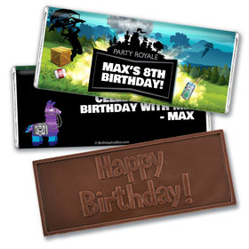 Personalized Birthday Battle Game Embossed Happy Birthday Bar