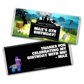 Personalized Birthday Battle Game Chocolate Bar & Wrapper
