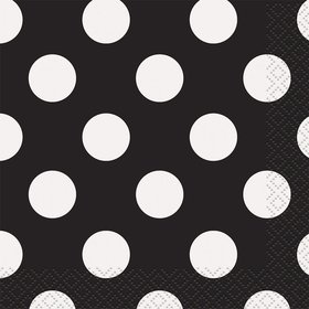 Black Dots Lunch Napkins (16 Count)