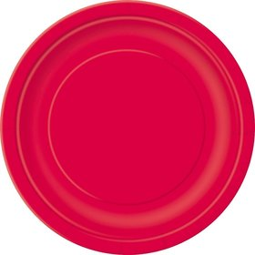 Red Cake Plates (20 Count)
