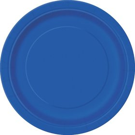 Royal Blue Luncheon Plates (16 Count)