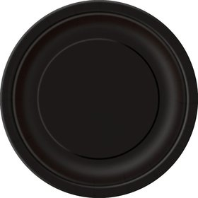 Midnight Black Luncheon Plates (16 Count)