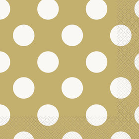 Gold Dots Lunch Napkins (16 Count)