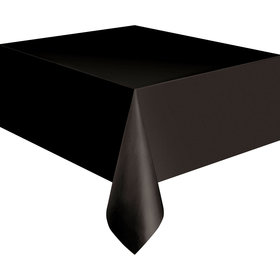 Midnight Black Plastic Table Cover (Each)