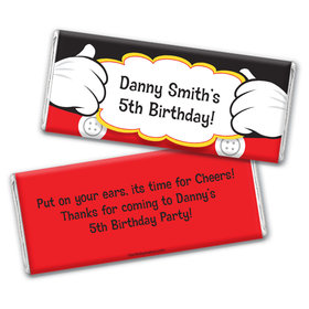 Personalized Birthday Mickey Party Chocolate Bar Wrappers