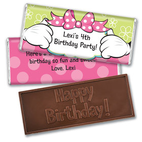 Personalized Birthday Miss Mouse Embossed Chocolate Bar & Wrapper