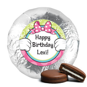 Personalized Birthday Miss Mouse Milk Chocolate Covered Foil Oreos