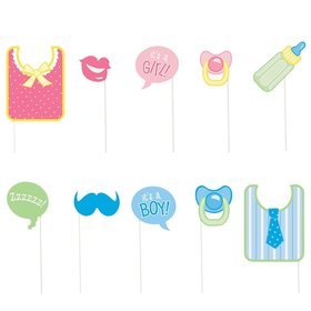 Baby Shower Photo Props Set (10 Pack)