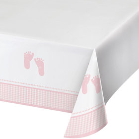 Sweet Baby Feet Pink Table Cover (Each)