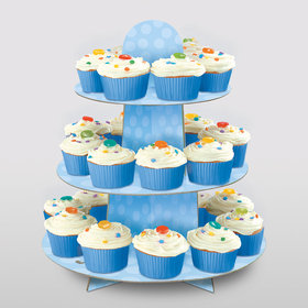 Light Blue Cupcake Stand (Each)