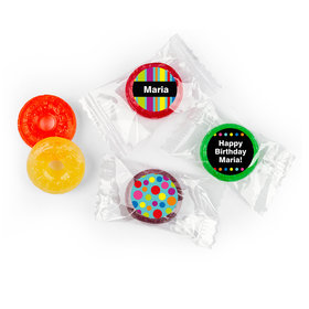 Birthday Stripes & Dots Personalized LIFE SAVERS 5 Flavor Hard Candy