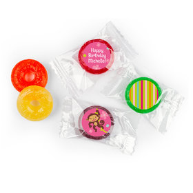 Birthday Girl Monkey Personalized LIFE SAVERS 5 Flavor Hard Candy (300 Pack)