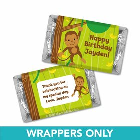 Birthday Monkey & Bananas Personalized Hershey's Miniatures Wrappers