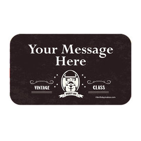 Vintage Dude Milestone Personalized Rectangular Stickers (18 Stickers)