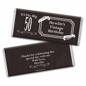 Vintage Elite Birthday Personalized Chocolate Bar