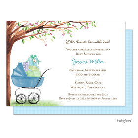 Bonnie Marcus Collection Personalized Beautiful Bassinet Boy Invitation