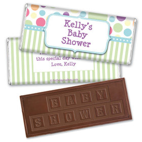 Baby Shower Colorful Dots Personalized Hershey's Embossed Chocolate Bar