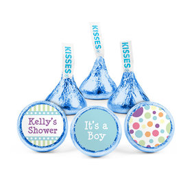 Personalized Baby Shower Colorful Dots Hershey's Kisses (50 pack)