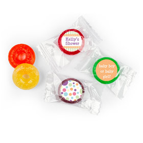 Baby Shower Orange Stripe Personalized LifeSavers 5 Flavor Hard Candy (300 Pack)