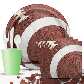 Football Birthday Party Deluxe Tableware Kit Serves 8