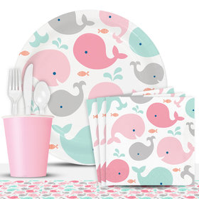 Lil Spout Pink Deluxe Tableware Kit (Serves 8)