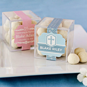 Personalized Baptism JUST CANDY® favor cube with Premium Sugar Cookie Bites