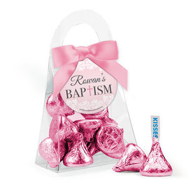 Personalized Baptism Favor Assembled Purse with Hershey's Kisses