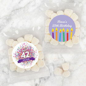 Personalized Birthday Candy Bags with Jelly Belly Champagne Bubble Gumdrops
