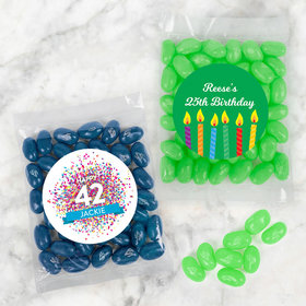 Personalized Birthday Candy Bags with Jelly Belly Jelly Beans